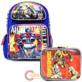 Transformers Robots in Disguise  Large School Backpack Lunch Bag 2pc Set