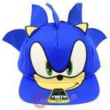 Sonic The Hedgehog Sonic Face Youth Snapback Flat Bill Cap Hat
