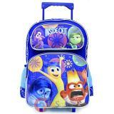 """Disney Inside Out Large  School Roller Backpack 16"""" Rolling Bag-Emotion"""