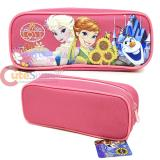 Disney Frozen Elsa and Anna  Zippered  Pencil Case Pouch Bag - Sun Flowers Pink