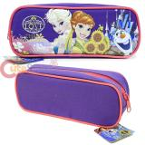 Disney Frozen Elsa and Anna  Zippered  Pencil Case Pouch Bag - Sun Flowers Purple