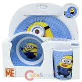 Despicable Me Kids Dining  Dinnerware Set 3pc Plate Bowl Tumbler Set