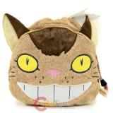 My Neighbor Totoro Catbus Fluffy Plush Tie String Pouch Neko Bus Bag