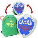 Nintendo Legend of Zelda Link Large School Backpack with Detachable 3D Shield Costume Bag