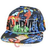 Marvel All Over Print 5 Panel Slouch Snapback  Flat Bill Trucker Cap