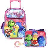 Disney Inside Out   Large  School  Roller Backpack with Lunch Bag Set- Emotion Pink