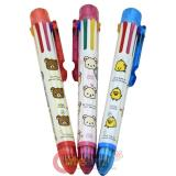 San X Rilakkuma 8 Colors Retractable Ballpoint Pens 3pc  Set