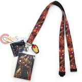 Marvel Avengers Iron Man Lanyard Keychain ID Holder with Charm Dangle