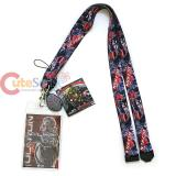 Marvel Avengers Ultron Lanyard Keychain ID Holder with Charm Dangle