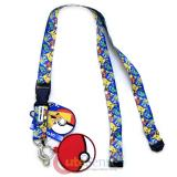 Pokemon Sublimated All Over Prints Lanyard with PVC Pokeball Dangle