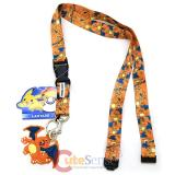 Pokemon Charizard All Over Prints Lanyard with PVC Dangle