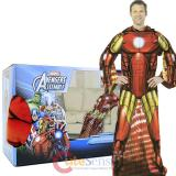 Marvel Avengers Iron Man Cozy Fleece  Blanket with Sleeves : Adult Size