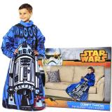Star Wars Astromech R2D2  Throw Blanket with Sleeves -Kids Size