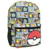 "Pokemon XY Pokemon Multi Characters Checker 17"" Large School Backpack"