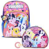 "My Little Pony 16"" Large Light Up School Backpack with Insulated Lunch Bag Set"
