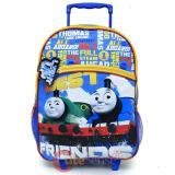Thomas Tank Engine Large School  Roller Backpack 16in Rolling - Best Friends Light Up
