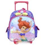 "Disney Princess Little Mermaid Ariel School Roller Backpack 12"" Medium Bag"