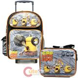 Despicable Me 3 Minions Large School Roller Backpack with Lunch Bag 2pc Set - Moive
