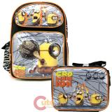 "Despicable Me 3 Minions 16""  Large School Backpack Lunch Bag Set -Movie"