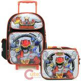 "Power Rangers 16"" Large Roller Backpack with Lunch Bag 2pc Set - Dino Charge"