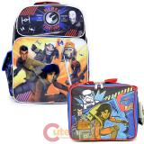 "Star Wars 7  Large 16"" School Backpack Lunch Bag 2pc Set - Rebel Fighters"