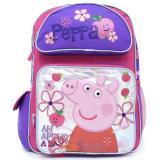 "Peppa Pig  Large School Backpack 16"" Girls Book Bag -Apple Blossom"