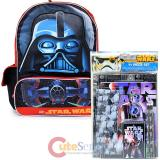 "Star Wars Darth Vader 16"" Large School Backpack with 11pc Stationary Set"
