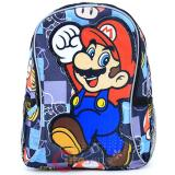 "Super Mario Large School Backpack 16"" Book Bag - Mario Jump"