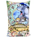 My Neighbor Totoro Pillow Cushion  with Cat Bus Silk Printing 22""