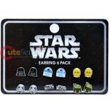 Star Wars Cartoon Stud Earring Pack Set 6 Pair