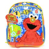 "Sesame Street Elmo  12"" School Backpack 1- 10 Count Talking Bag"