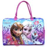 "Frozen Elsa Anna Duffle Bag Travel  Gym Large Overnight Bag 20"" XL -Floral Flakes"