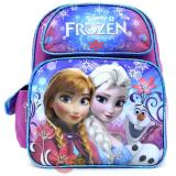 "Disney Frozen Elsa Anna 12"" School Backpack Girls Medium Bag - Floral Flakes"