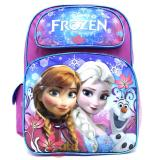 "Disney Frozen Elsa Anna  16""  School Backpack Large Bag -Floral Flakes"