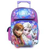"""Disney Frozen Elsa Anna 16"""" School Roller Backpack Large Rolling Bag-Floral Flakes"""