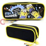 Despicable Me Minions Zippered  Pencil Case Pouch Bag - Black
