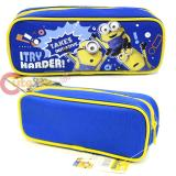 Despicable Me Minions Zippered  Pencil Case Pouch Bag - Blue