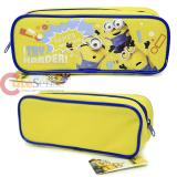 Despicable Me Minions Zippered  Pencil Case Pouch Bag - Yellow