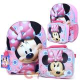 Disney Minnie Mouse Bowtique Large  Backpack with Detachable Lunch Bag