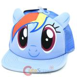 My Little Pony Rainbow Dash Big Face Mesh Back Trucker Snap Back Hat