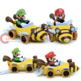 Nintendo Super Mario Kart 7 Bee Diecast Collection set of 2 (Mario , Luigi)