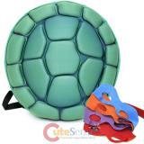 TMNT Ninja Turtles Turtle 3D Molded Hard Shell Backpack with 4 Masks