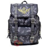 """Nintendo Legend of Zelda Triforce All Over Print Backpack 17"""" Rucksack Bag"""