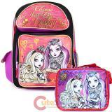 Ever After High  Large School Backpack Lunch Bag Set -Foever High