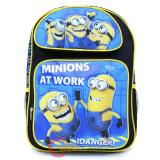 """Despicable Me Minions Large School Backpack 16"""" Book Bag - At Works"""