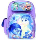 "Disney Inside Out 16"" School Backpack All Over Prints Large Book Bag - Pink Purple"