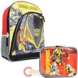 "Transformers Bumble Bee 16"" Large School Backpack Lunch Bag 2pc Set"