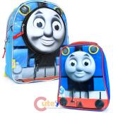 "Thomas Tank Engine & Friends 12"" School Backpack Die Cut Lunch Bag Set :Big Face"