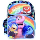 "Disney Inside Out 16"" School Backpack All Over Prints Large Book Bag - Riley's Emotion"