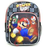 "Nintendo Super Mario Toddler School Backpack10"" Boys Bag - Power up"